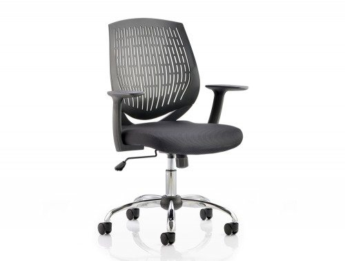 Dura Task Operator Chair Black With Arms Featured Image