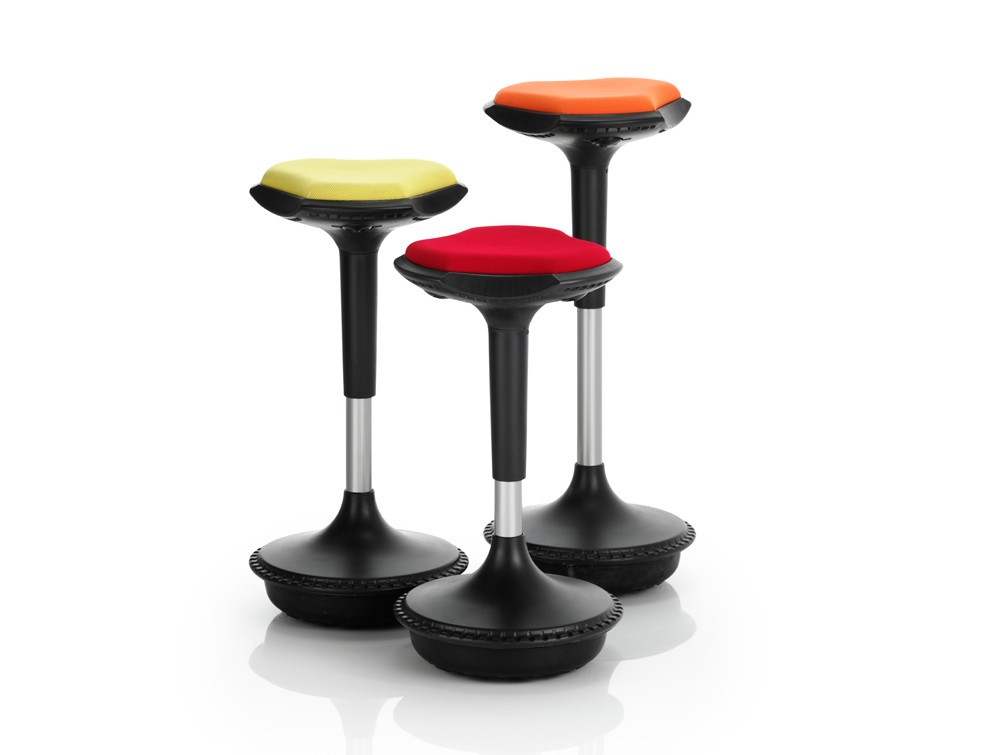 Dynamic sitall stools with spherical base in fabric