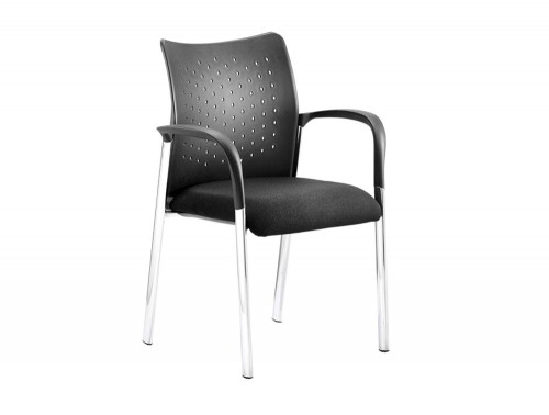 Dynamo-Academy-Visitor-Chair-with-Armrests-and-Chrome-Legs-in-Black