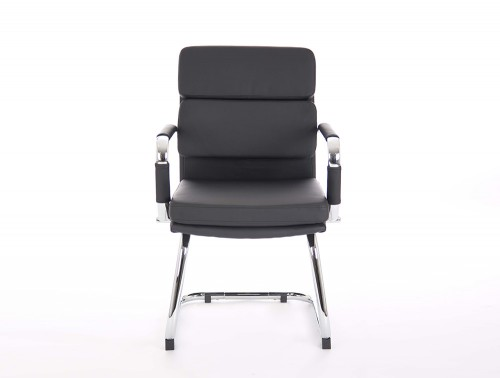 Dynamo-Advocate-Cantilever-Visitor-Chair-with-Arms-in-Black-Eco-Leather-Front