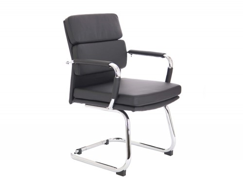 Dynamo-Advocate-Cantilever-Visitor-Chair-with-Arms-in-Eco-Black-Leather