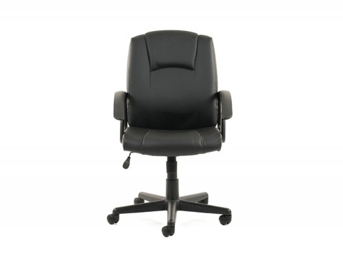 Dynamo-Bella-Executive-Manager-Chair-in-Black-Leather-Front