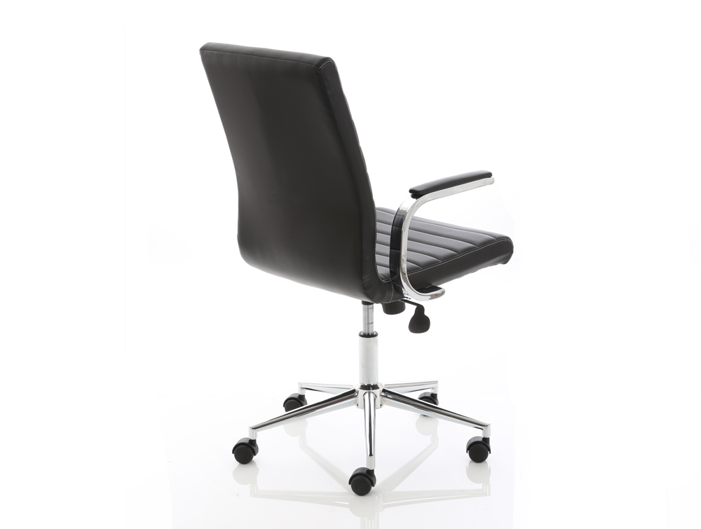 Dynamo Ezra Series Office Executive Chair Black Leather Sidepart