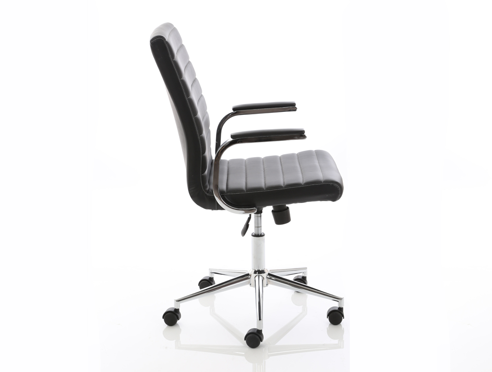 Dynamo Ezra Series Office Executive Chair Black Leather Sideview