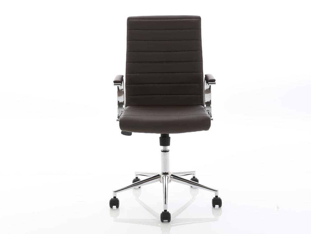 Dynamo Ezra Series Office Executive Chair Brown Leather Front