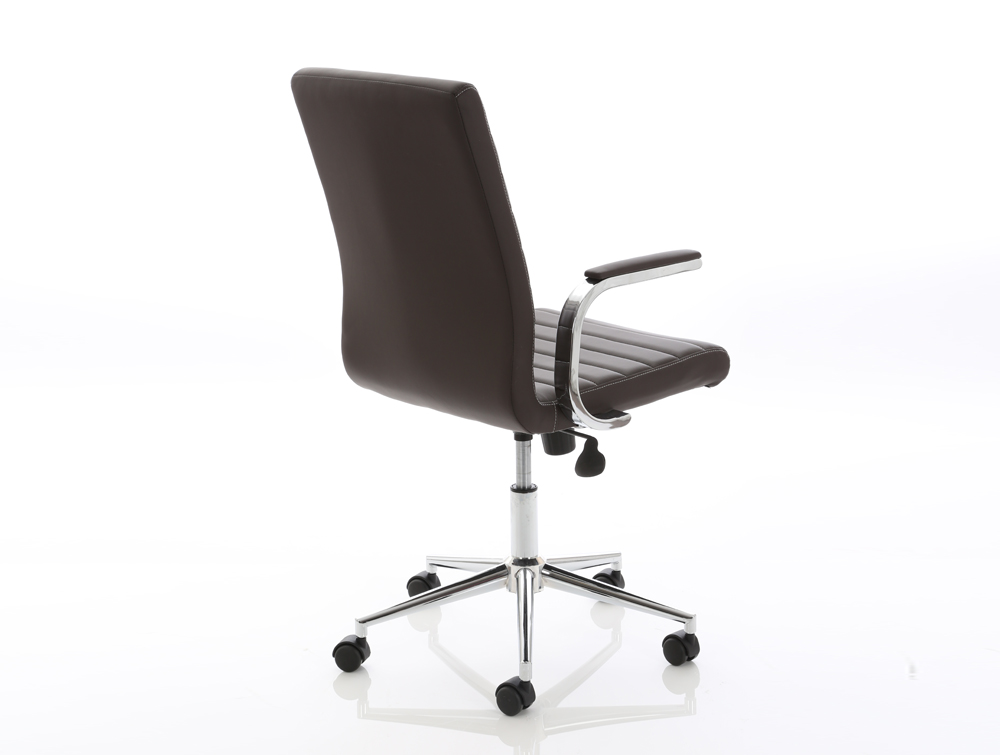 Dynamo Ezra Series Office Executive Chair Brown Leather Sidepart