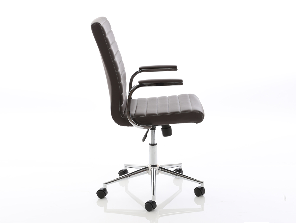 Dynamo Ezra Series Office Executive Chair Brown Leather Sideview