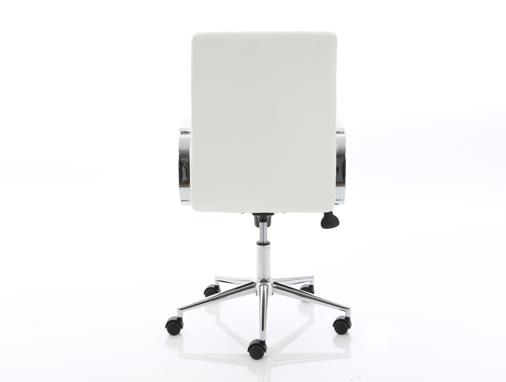 Dynamo Ezra Series Office Executive Chair White Leather Back