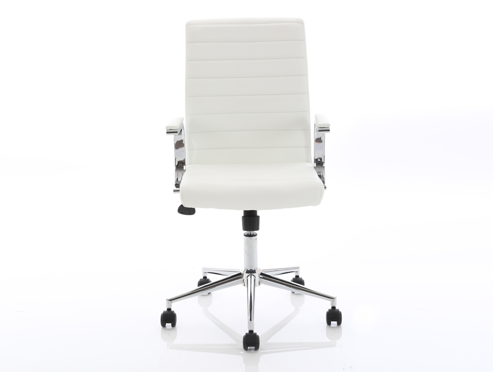 Dynamo Ezra Series Office Executive Chair White Leather Front