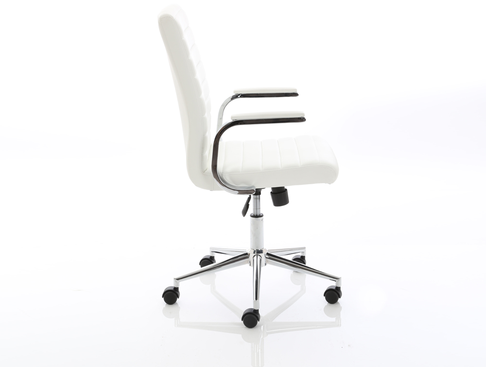 Dynamo Ezra Series Office Executive Chair White Leather Side