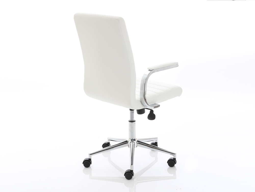 Dynamo Ezra Series Office Executive Chair White Leather Sidepart