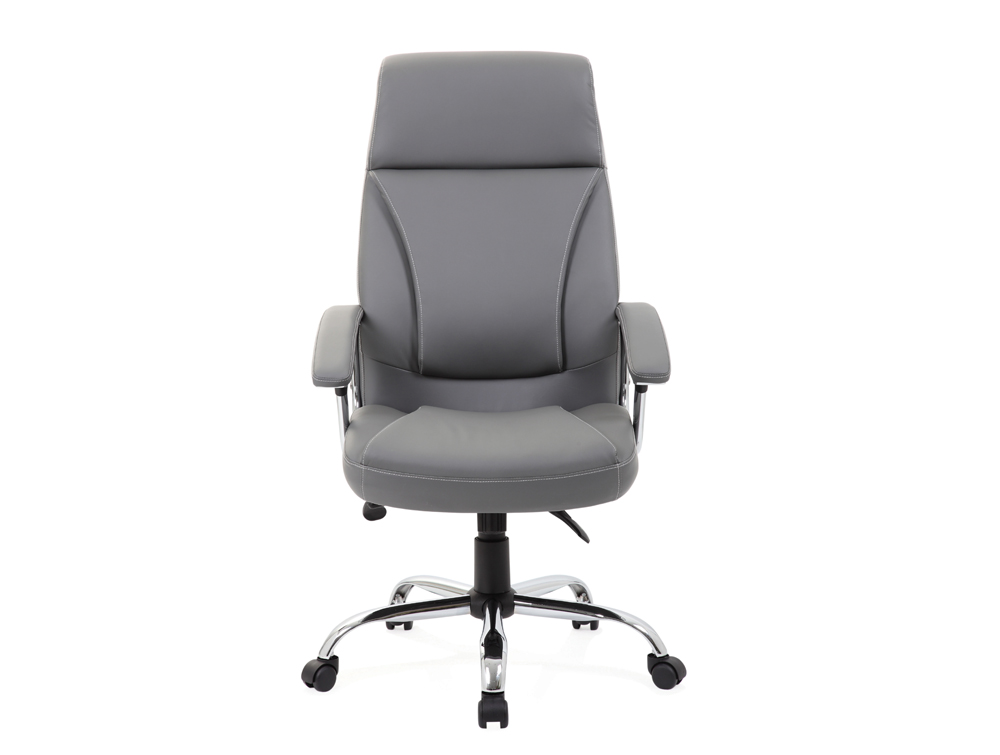 Dynamo Grey Cream Executive Office Leather Chair Front