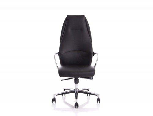 Dynamo-Mien-High-Back-Executive-Office-Leather-Chair-in-Black-Front