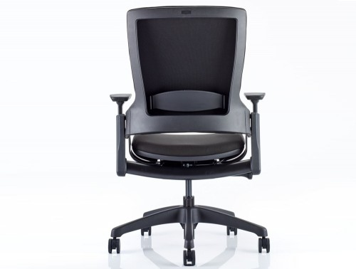 Dynamo Molet Task Executive Office Chair in Black Fabric Backside