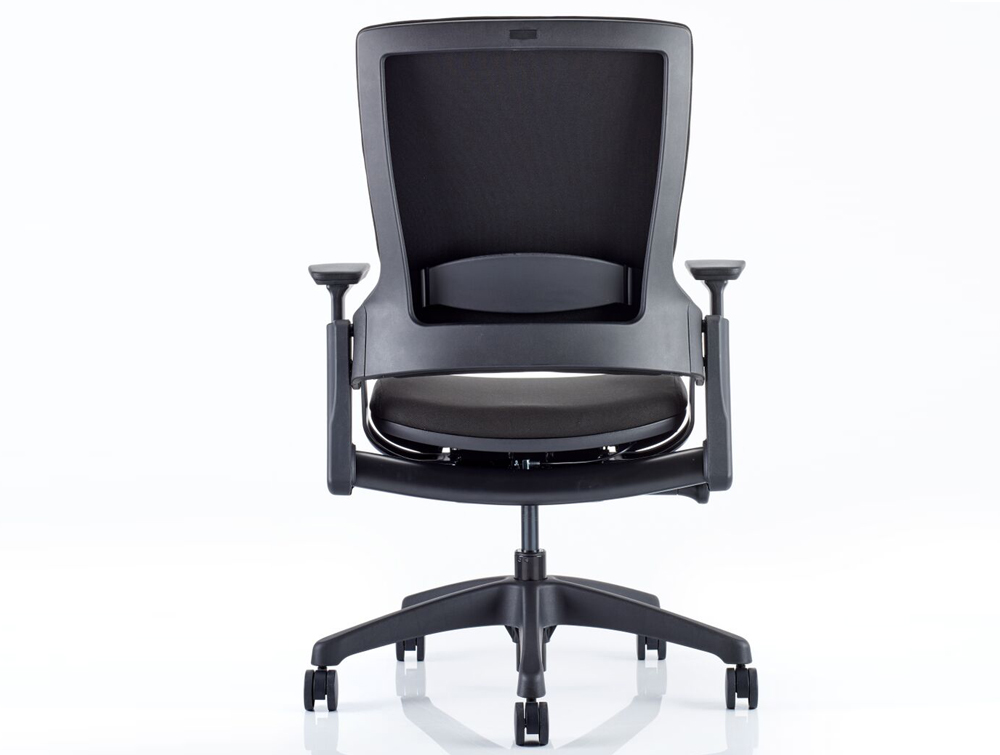 Dynamo Molet Task Executive Office Chair In Black Fabric Backside ...