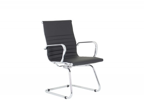 Dynamo-Nola-Black-Bonded-Leather-Cantilever-Chair