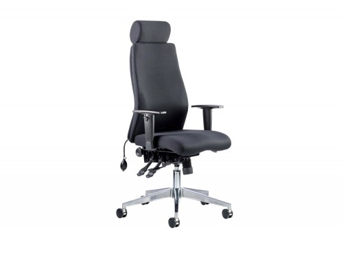 Dynamo-Onyx-Posture-Office-Chair-With-Headrest-in-Black