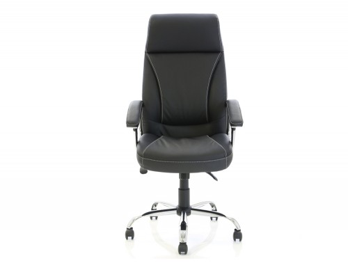 Dynamo Penza Black Executive Office Leather Chair Frontview