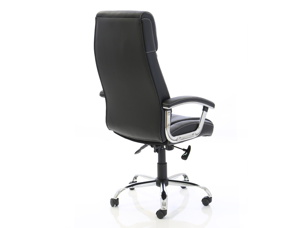 Dynamo Penza Black Executive Office Leather Chair Sidepart