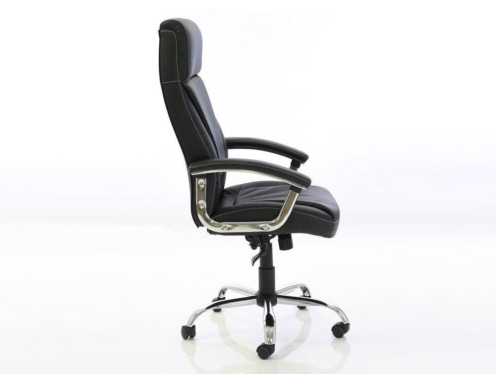 Dynamo Penza Black Executive Office Leather Chair Sideview