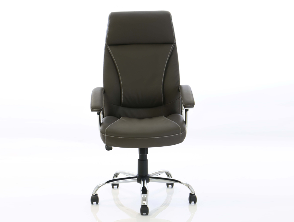 Dynamo Penza Brown Executive Office Leather Chair Front