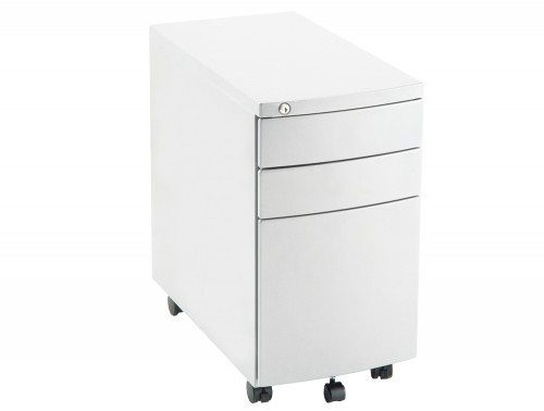 Dynamo Slim Mobile Pedestal White