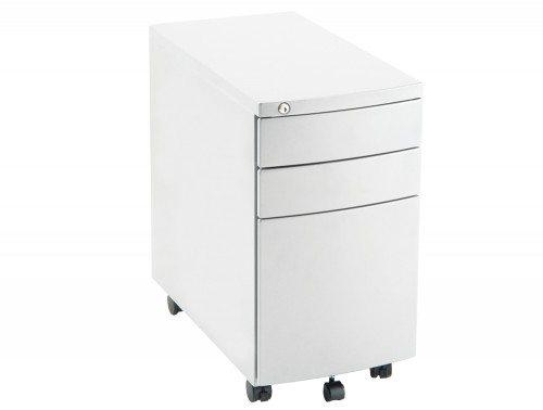 Dynamo Slim Mobile Pedestal White