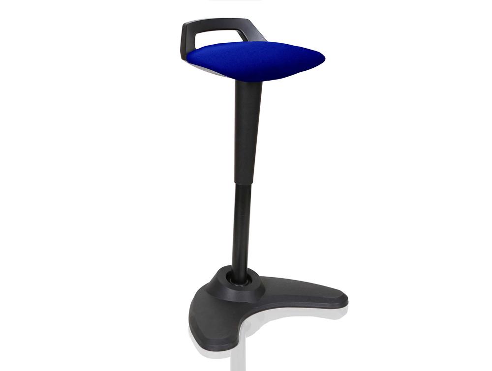 Dynamo Spry Posture Stool Black Frame Blue Seat