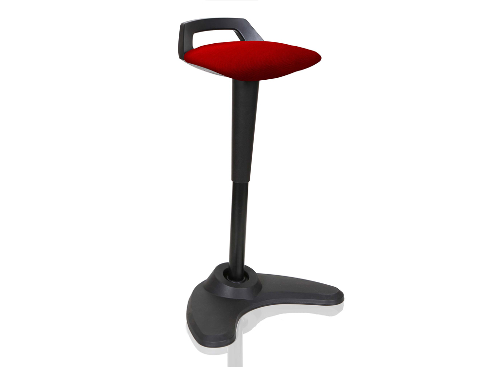 Dynamo Spry Posture Stool Black Frame Red Seat