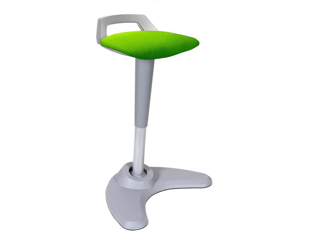 Dynamo Spry Posture Stool Grey Frame Green Seat