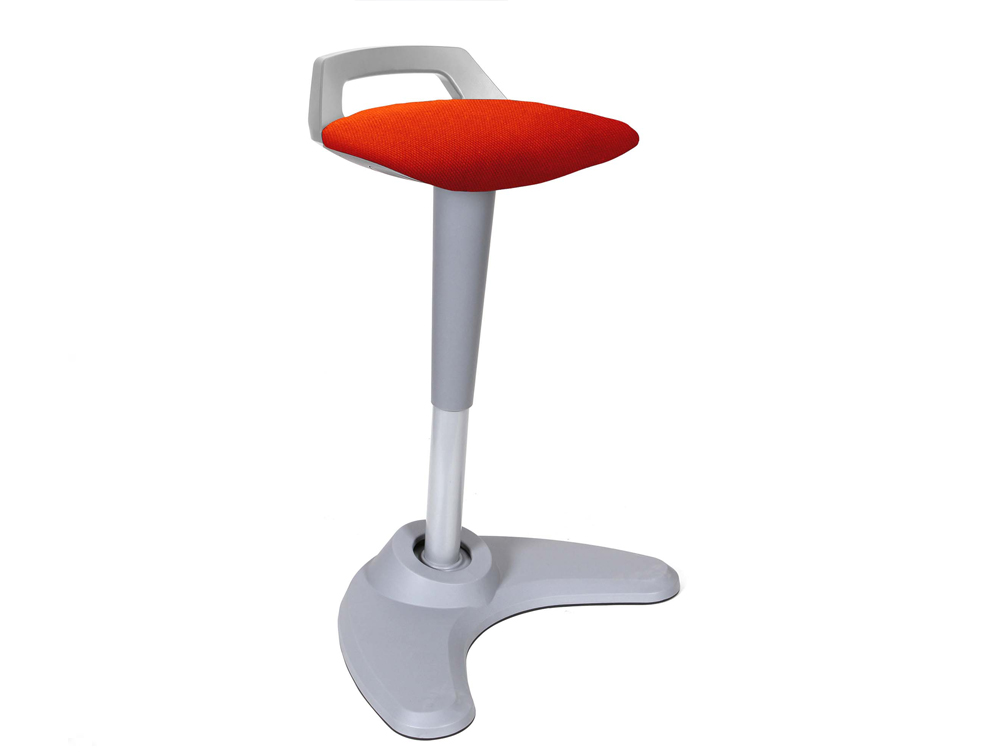 Dynamo Spry Posture Stool Grey Frame Orange Seat