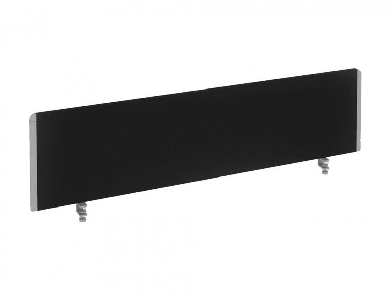 Dynamo Straight Desk Screen in Black