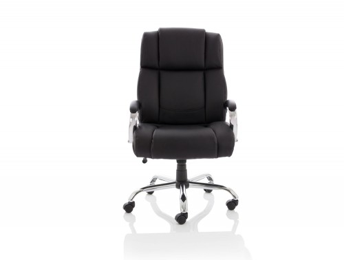 Dynamo Texas Black Executive Office Leather Chair Front