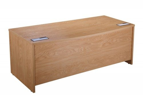 Elite Executive Desk with Bow-front in Oak 1800mm