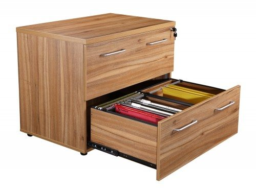 Elite 2 Drawer Side Filing Cabinet in Walnut