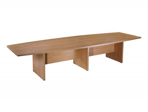 Elite Boardroom Table with Modesty Panel in Oak 4000mm