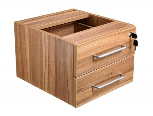 Elite Return Unit Fixed 2 Drawer Pedestal in Walnut