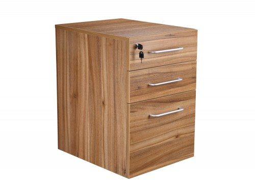 Elite Full Height 3 Drawer Pedestal in Walnut