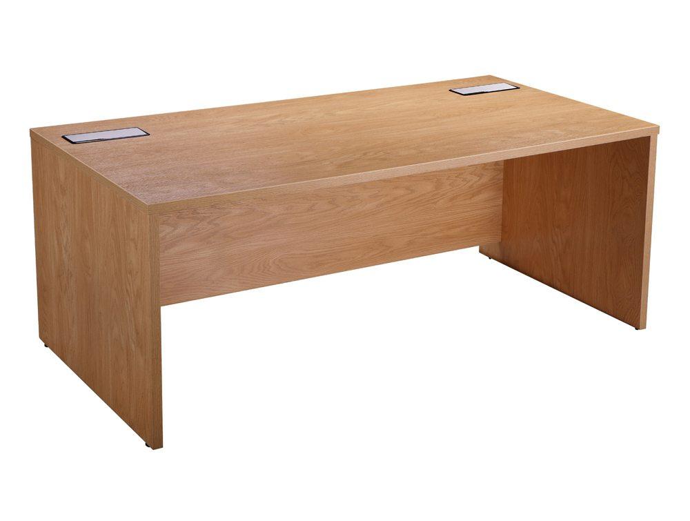 Elite Rectangular Executive Desk in Oak