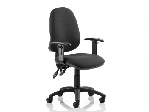 Eclipse-2-Lever-Task-Operator-Chair-Black-With-Height-Adjustable-Arms