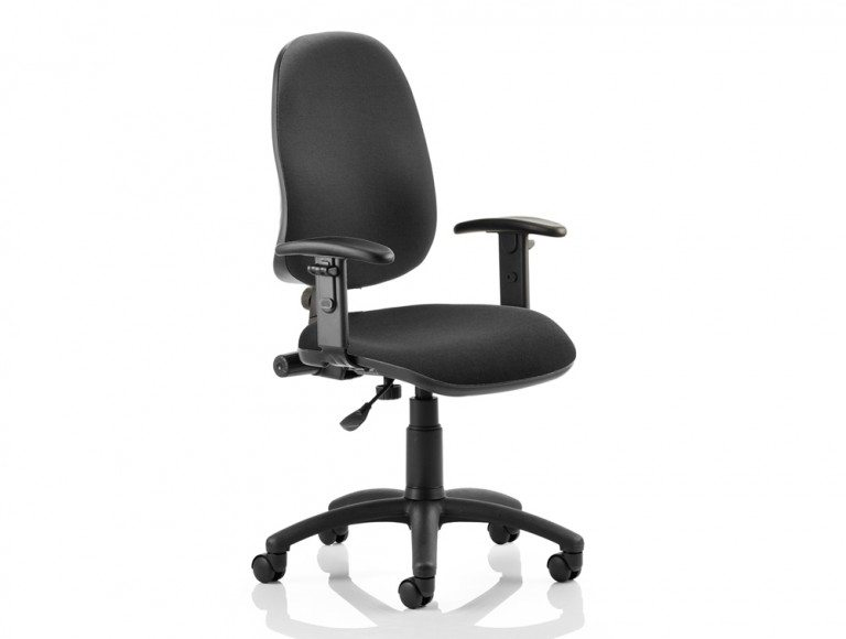 Eclipse I Lever Task Operator Chair Black With Height Adjustable Arms Featured Image