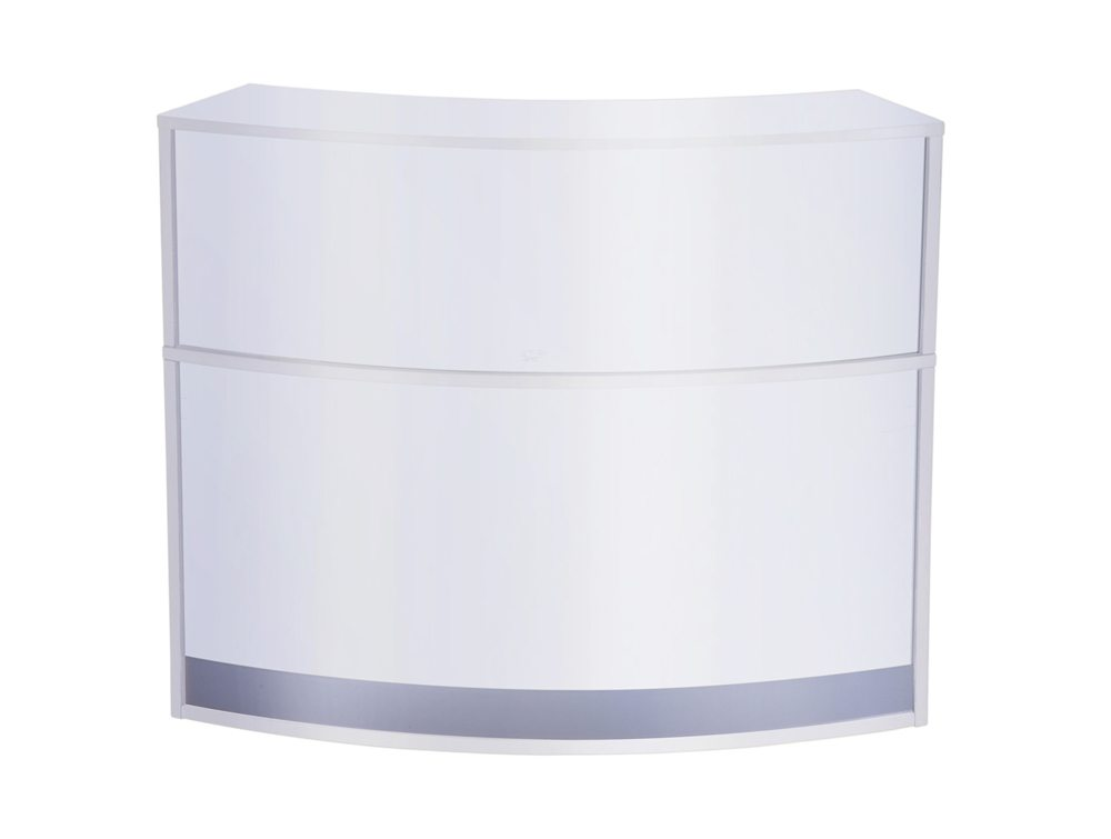 Elite Reception Table Full Height Radius in White