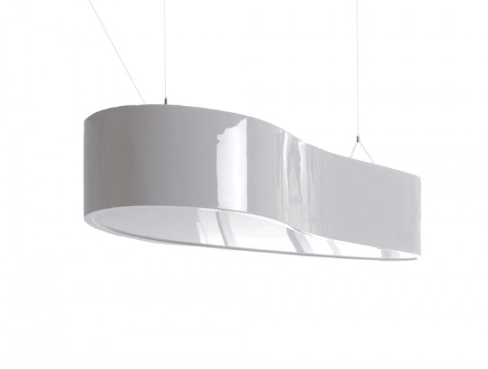 Ellipse Overhead Office Reception and Meeting Room Lighting in High Gloss White