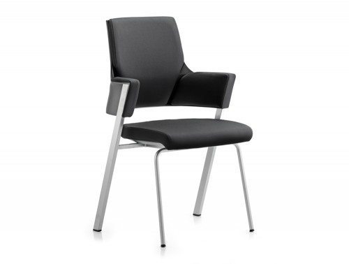 Enterprise Visitor Chair Black Fabric With Arms Featured Image