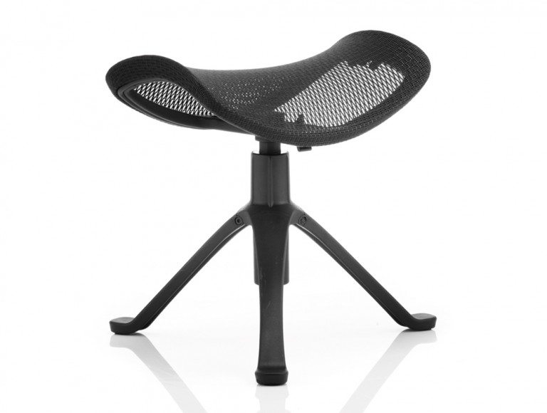 Ergo-Dynamic Footstool Black Frame Black Mesh Featured Image