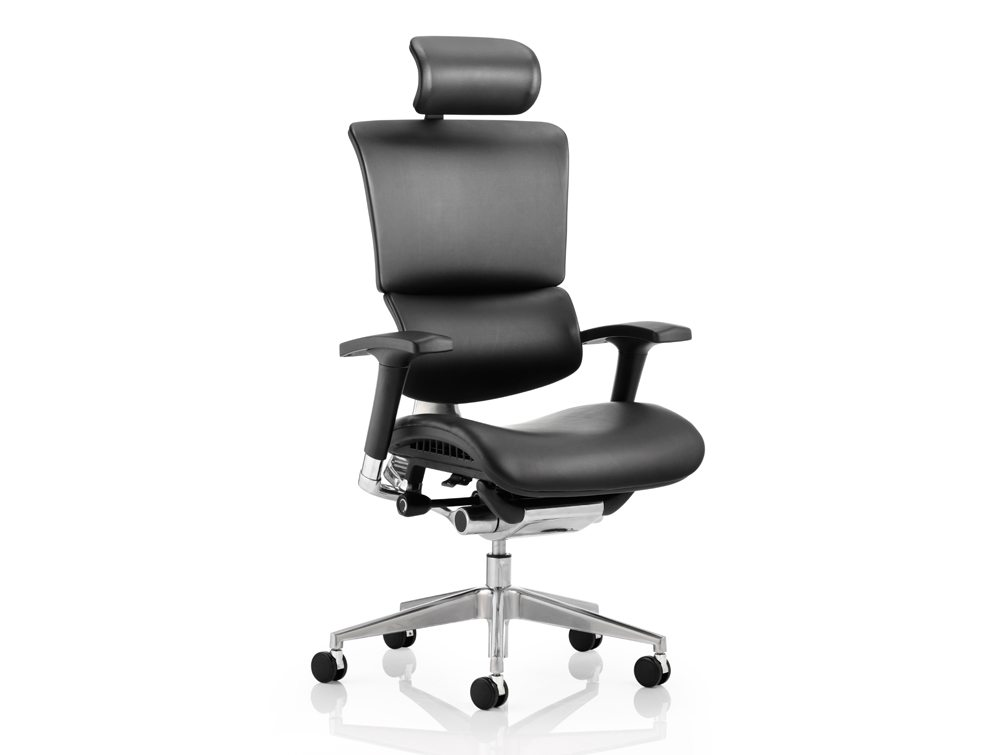 dynamo ergo dynamic posture chair with arms and headrest