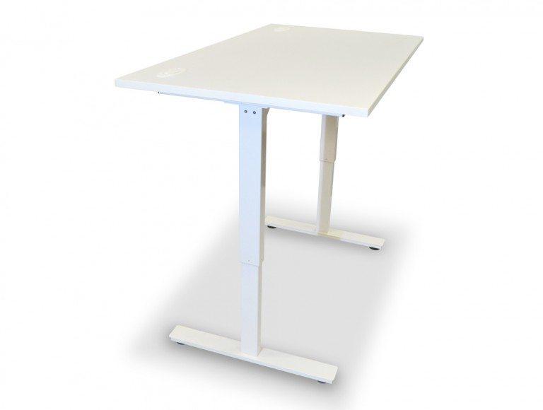 ErgoLift Sit-stand Electric Adjustable Desk White Frame in White