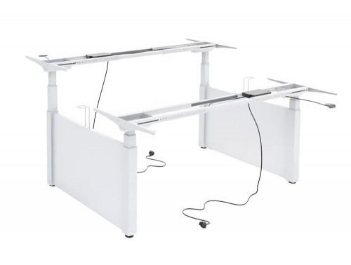 Ergomaster Electric Sit-Stand Back to Back Workstation Desk