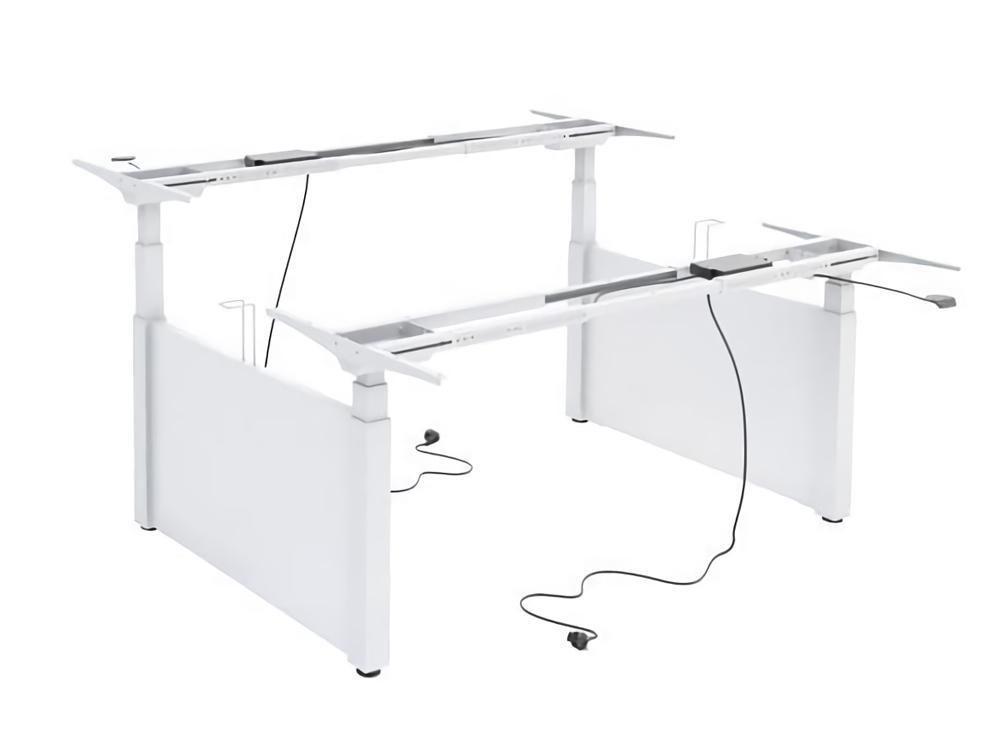 Ergomaster Electric Sit-Stand Back to Back Workstation Desk