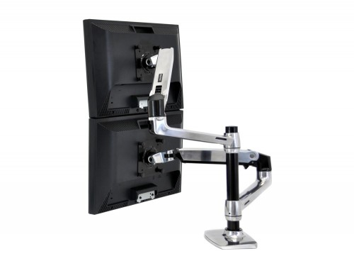 Ergotron LX dual stacked desk mount LCD arm back